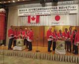 歓迎レセプションでは七夕飾りと雀踊りが披露された