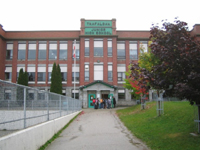 現地生徒と一緒に授業参加したトラファルガー中学校(ネルソン市)